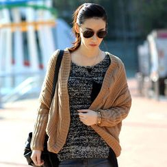 SO Central - Batwing-Sleeve Open-Front Cardigan