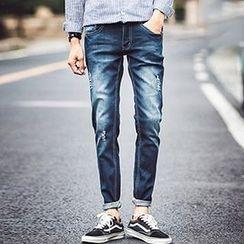 Zeesebon - Washed Distressed Jeans