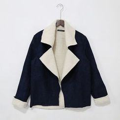 Mr. Cai - Notched-Lapel Fleece-Lined Open-Front Jacket