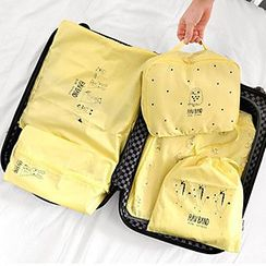 Evorest Bags - Set of 5: Printed Travel Garment Organzier