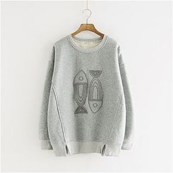 Storyland - Fish Embroidery Pullover