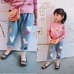 Happy Lala - Kids Heart-Print Jeans