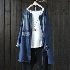 Rosadame - Panel Long Denim Shirt