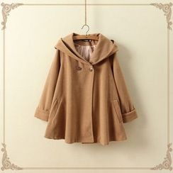 aerokiss - Hooded Cape Coat
