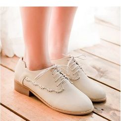 Freesia - Brogue Lace-Up Shoes