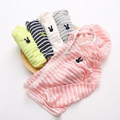 Seashells Kids - Kids Rabbit Stripe Hooded Jacket