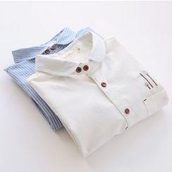 Bonbon - Embroidered Long-Sleeve Shirt