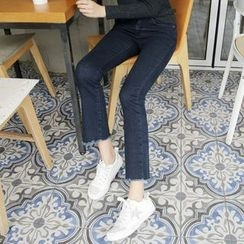 Envy Look - Band-Waist Boot-Cut Jeans