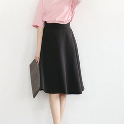 Sens Collection - High Waist A-Line Skirt