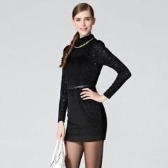 O.SA - Chain-Trim Lace Dress
