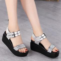 ZOHOUR - Glitter Platform Sandals