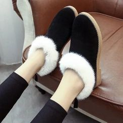 Sunsteps - Furry Trim Snow Slip-Ons