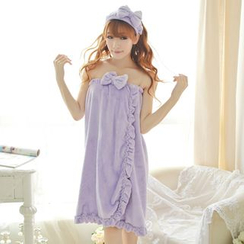 Dreamland - Set: Bow-Accent Head Band + Nightdress + Slippers