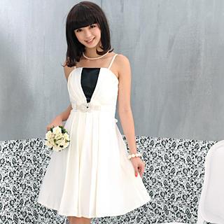 Sleeveless Diamante Belt Satin Party Dress