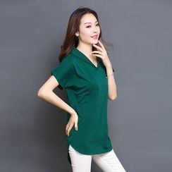 Eloqueen - V-Neck Long Top