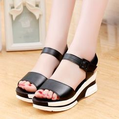 Sunsteps - Platform Color Block Sandals