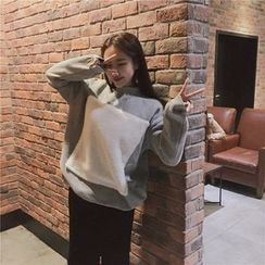 QZ Lady - Color Panel Long Pullover