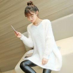 千色衣站 - 長款毛衣