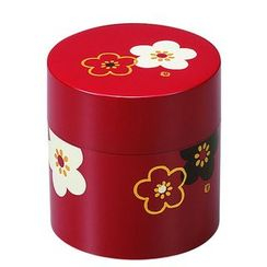 Hakoya - Hakoya Tea Caddy Small Hanamonyou Ume Red
