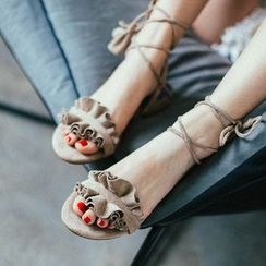 MIAOLV - Lace-Up Sandals