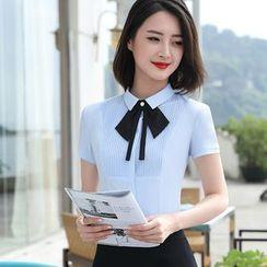 Princess Min - Short-Sleeve Shirt / Pencil Skirt / Pants