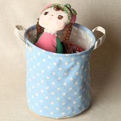 Gukan - Dotted Linen Cotton Storage Basket