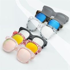 Sunny Eyewear - Mirrored Square Sunglasses