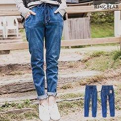 RingBear - Drawstring Waist Jeans