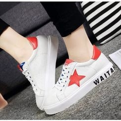 BAYO - Star Applique Lace Up Sneakers