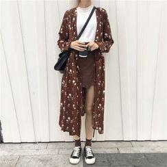 Dasim - Long-Sleeve Floral Shirt Dress