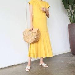 MARSHMALLOW - Maternity Dolman-Sleeve Maxi Dress