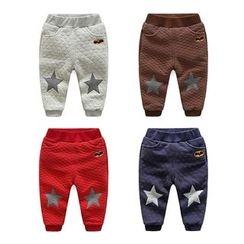 WellKids - 星星貼飾菱格長褲