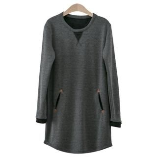 PEPER - Fleece-Lined T-Shirt Dress