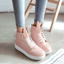 Pangmama - Ear-Accent High-Top Sneakers