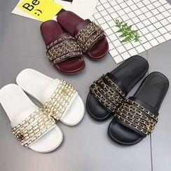 Anran - Chain Detail Slide Sandals