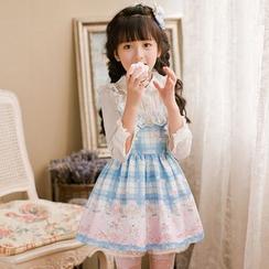 糖果雨 - 小童长袖印花连衣A字裙
