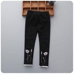 Rakkaus - Kids Embroidered Paneled Pants
