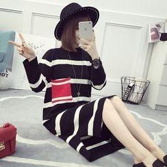 CHERJOE - Striped Knit Dress