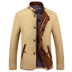 Evzen - Stand Collar Zip Jacket