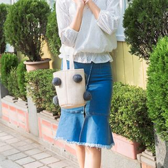 AiLiTi - 散邊魚尾牛仔裙