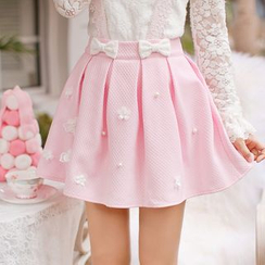 Candy Rain - Pleated A-Line Skirt