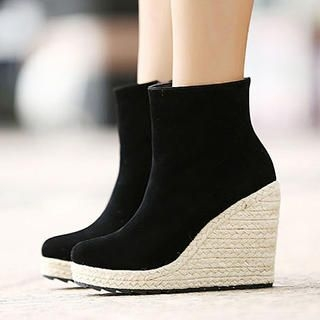 Mancienne - Espadrille Wedge Ankle Boots