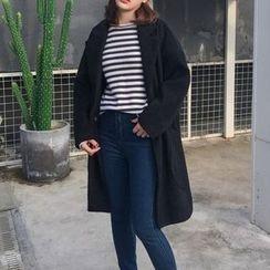 Cloud Nine - Plain Knit Lapel Jacket