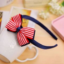 Gold Beam - Bow Kids Hair Band