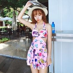 Blue Lagoon - Perfume Print Swimdress