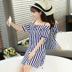 Colorful Shop - Striped Shirtdress