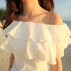 Ashlee - Ruffle Off-Shoulder Top