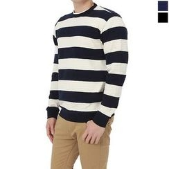 Seoul Homme - Round-Neck Color-Block T-Shirt