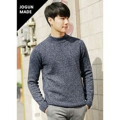 JOGUNSHOP - Mock-Neck Mélange Knit Top