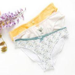 LA SHOP - 一套三件: 印花内裤